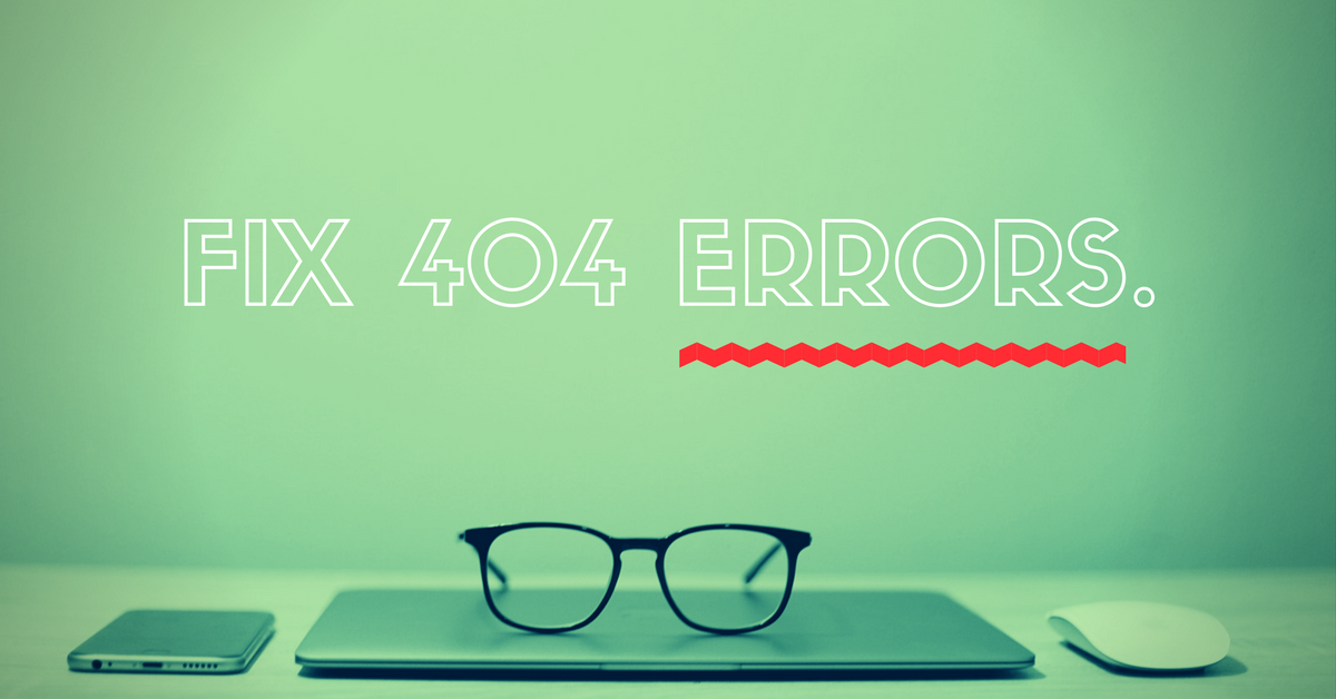 How can we solve 404 errors